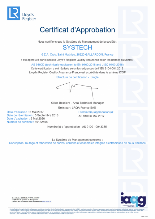 certification Systech